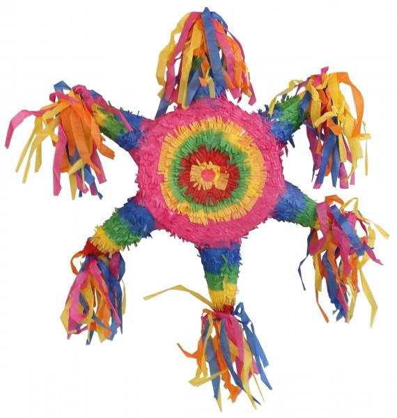 Piñata de estrellas arcoiris colorido