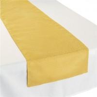Goldener Tischläufer metallic 1,8m
