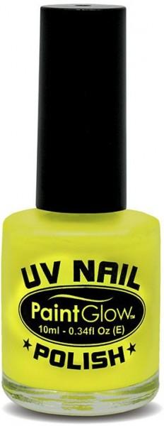 Luminous yellow nail polish