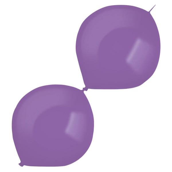 50 Girlandenballons lila 30cm