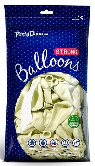 20 Partystar metallic Ballons creme 30cm