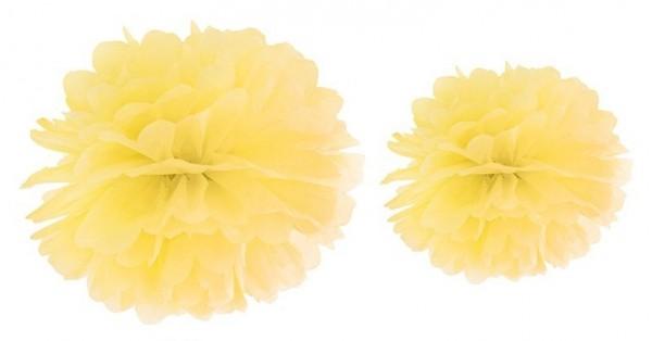 Pompon Romy lemon yellow 25cm