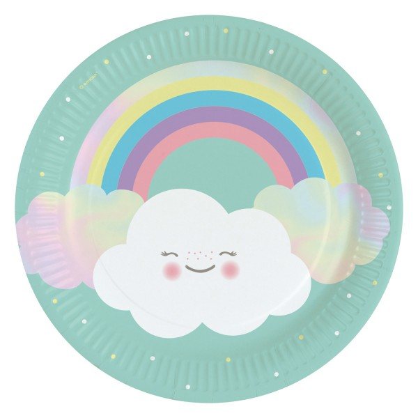 8 sweet clouds world paper plates 23cm