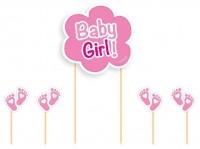 Rosa Muffinstecker Baby Girl