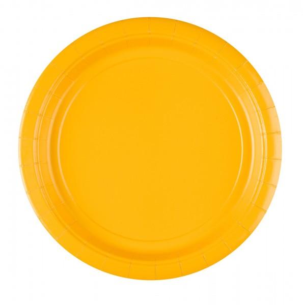20 paper plates sun yellow 22.8cm