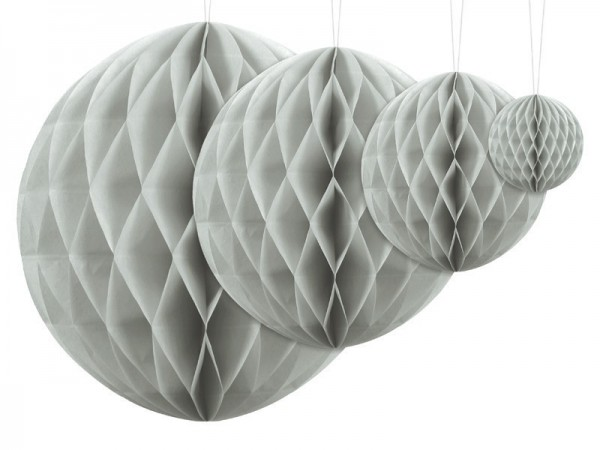 Honeycomb ball Lumina light gray 20cm