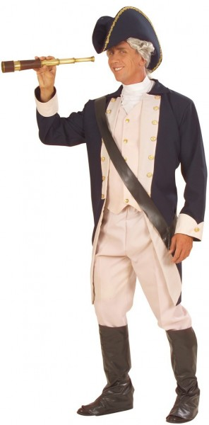 Seefahrer Admiral Johnson Herrenkostüm