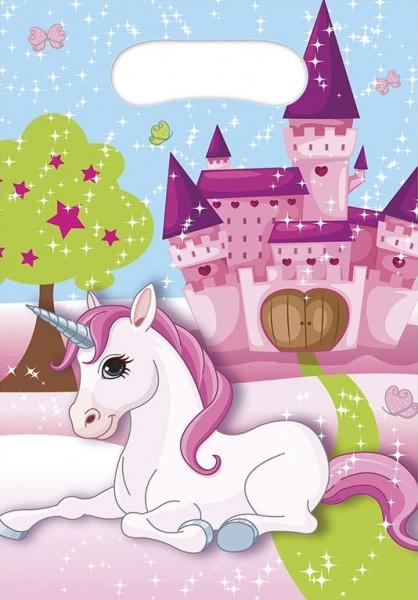 6 bolsa de regalo unicornio dream world