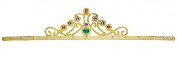 Pompous diadem crown with precious stones