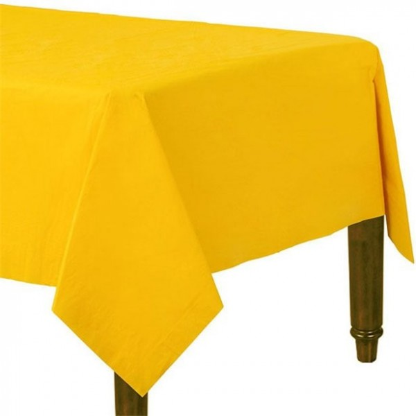 Paper tablecloth yellow 90 x 90cm