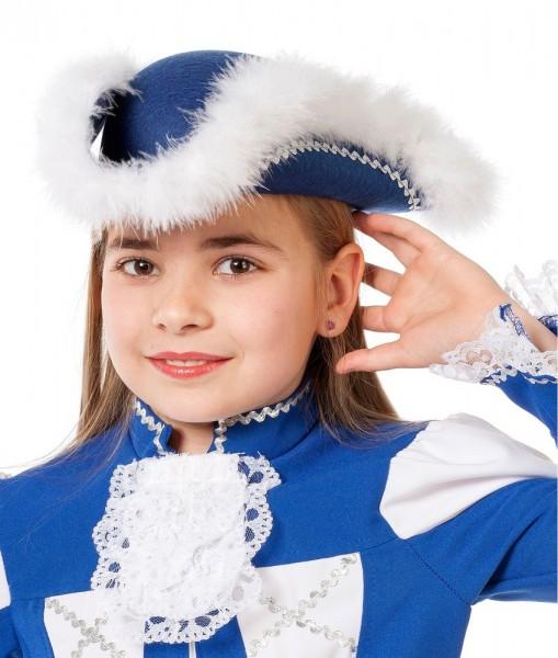 Blauer Funkemariechen Gardehut Karnevalstanz