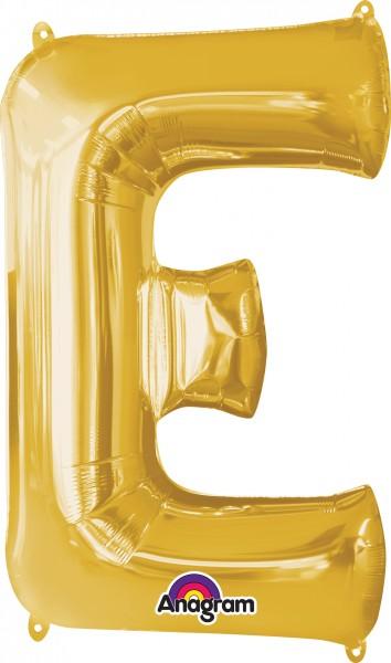 Letter foil balloon E gold 81cm