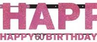Pink 60th Birthday Girlande 2,13m