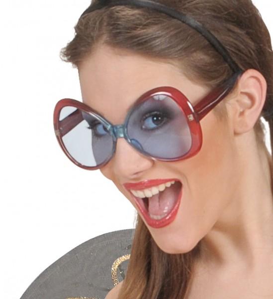Hippie Diva Brille weinrot