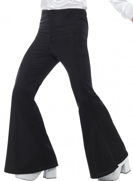 Disco men's bell-bottoms black