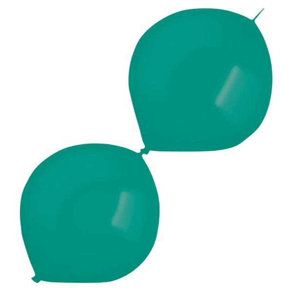 50 metalicznych balonów na girlandę Acquamarine 30cm