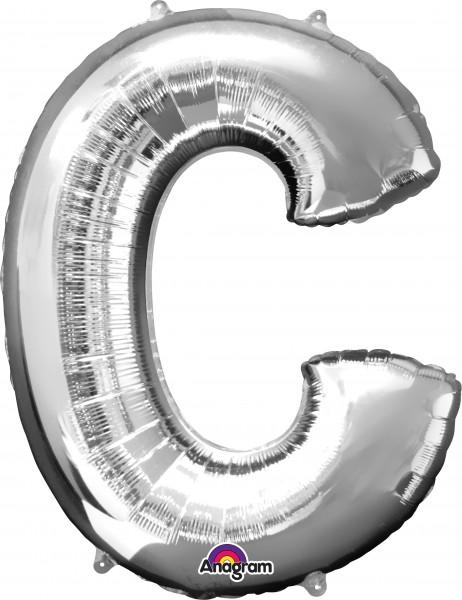 Folienballon Buchstabe C silber 81cm