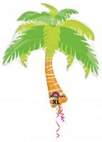 Tropischer Palmen Folienballon 74 x 83cm