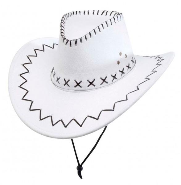 Weißer Cowboyhut Mit Nähten