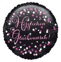 Pink Birthday Ballon Glückwunsch 43cm