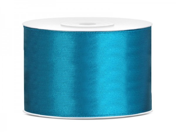 25m satin gift ribbon turquoise 5cm wide