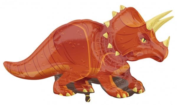 Ballon aluminium dinosaure Triceratops