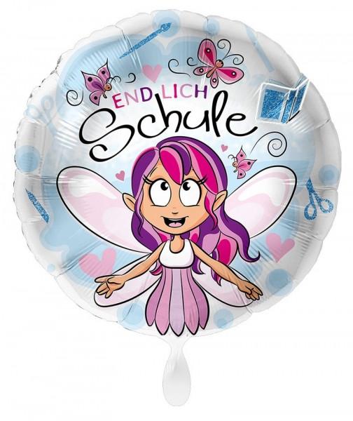 Endlich Schule Fee Folienballon 43cm