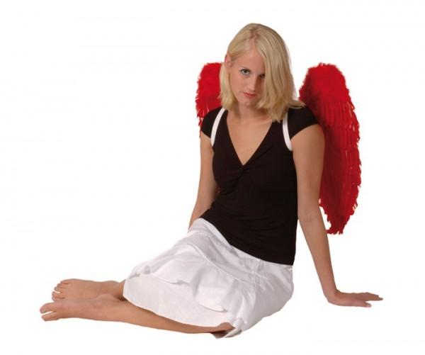 Dark Angel Federflügel rot