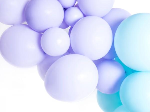 100 Partystar Luftballons lavendel 12cm