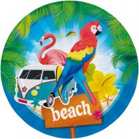 8 Summerbeach Pappteller 23cm