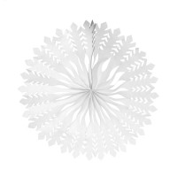 Fächer Schneeflocke 40cm