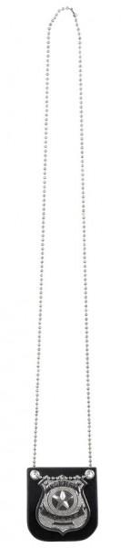 Polizeimarke Abzeichen Halskette