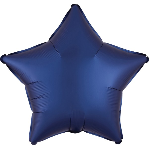 Satin Sternballon royalblau 43cm