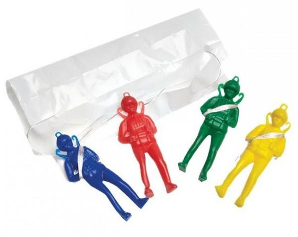 4 Bunte Fallschirmspringer Figuren