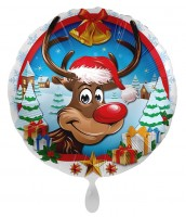 Weihnachts-Folienballon Rudolph 45cm