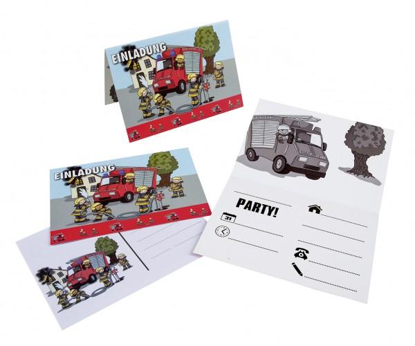 Feuerwehr Alarm Einladungskarten Mit A6 Umschlägen