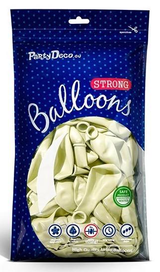 50 Partystar metallic Ballons creme 30cm