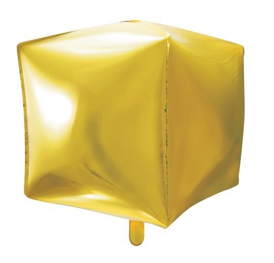 Cube balloon partylover gold 35cm