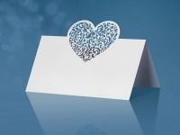 Vorschau: 10 Tischkarten mit Herzornament 9 x 6,5cm