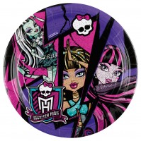 8 Pappteller Partytime Monster High 23cm