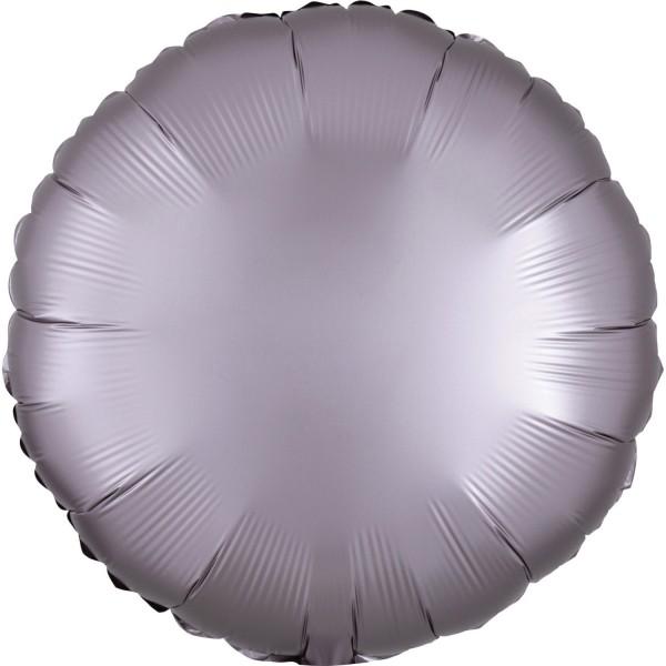 Satin Folienballon mauve 43cm
