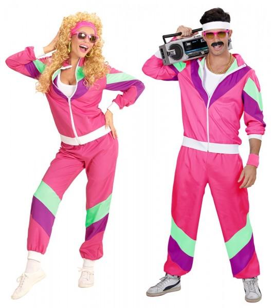 Pantalon de jogging rétro rose des années 80