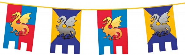 Ritterparty Pennant Chain With Dragon 6m