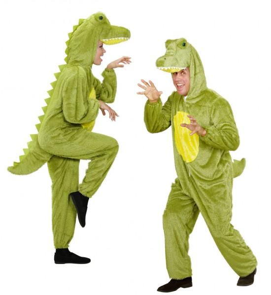 Costume en peluche de crocodile