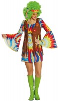 Tolles Hippie Batik Damenkostüm