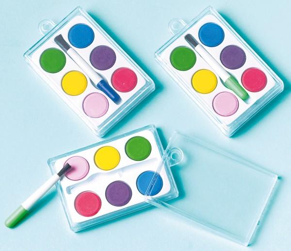 12 petites boîtes de peinture en cadeau