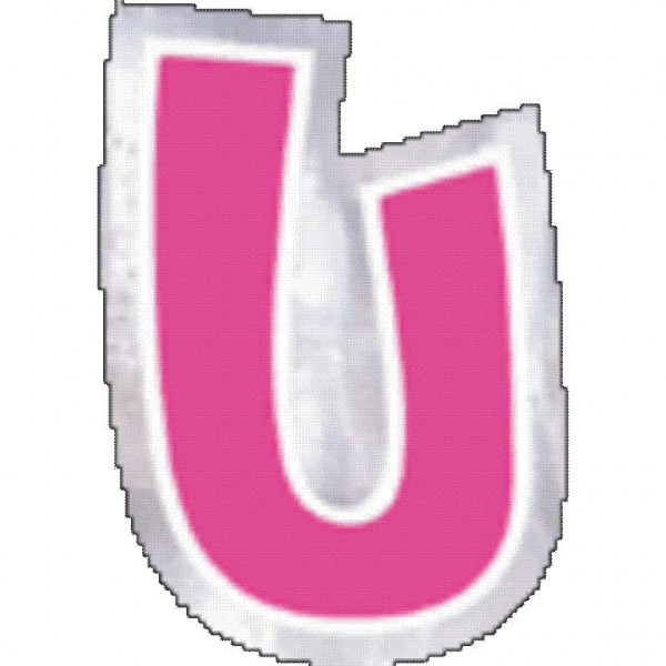 48 balloon stickers letter U