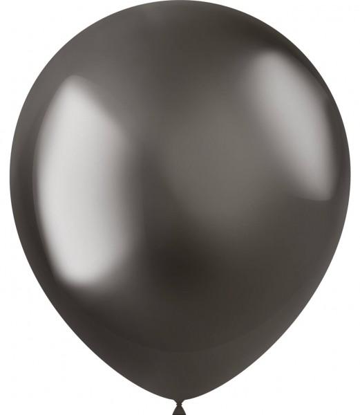 50 Shiny Star Luftballons anthrazit 33cm