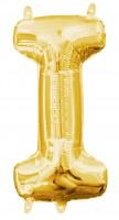 Mini Folienballon Buchstabe I gold 35cm