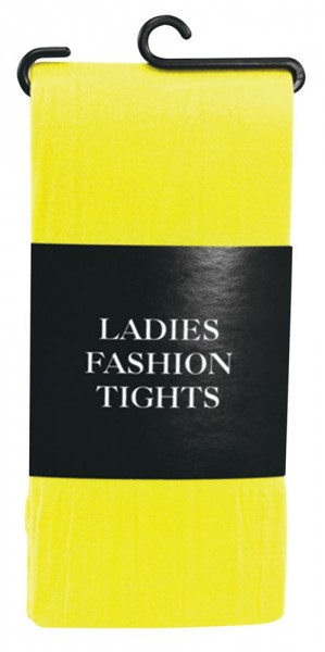 Blickdichte Damenstrumpfhose Gelb